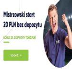 20 PLN od forBET bez depozytu do końca Listopada!