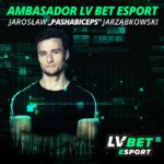"""Jarosław """"Pashabiceps"""" Jarząbkowski ambasadorem sekcji esportowej LV BET"""